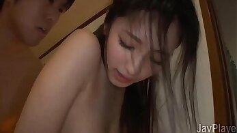 Stunning japanese damsel fucks sister's boyfriend and get caught