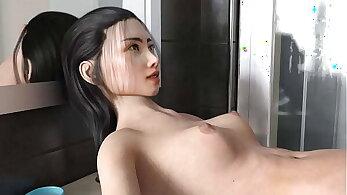Maid fucked a man in his Bathroom